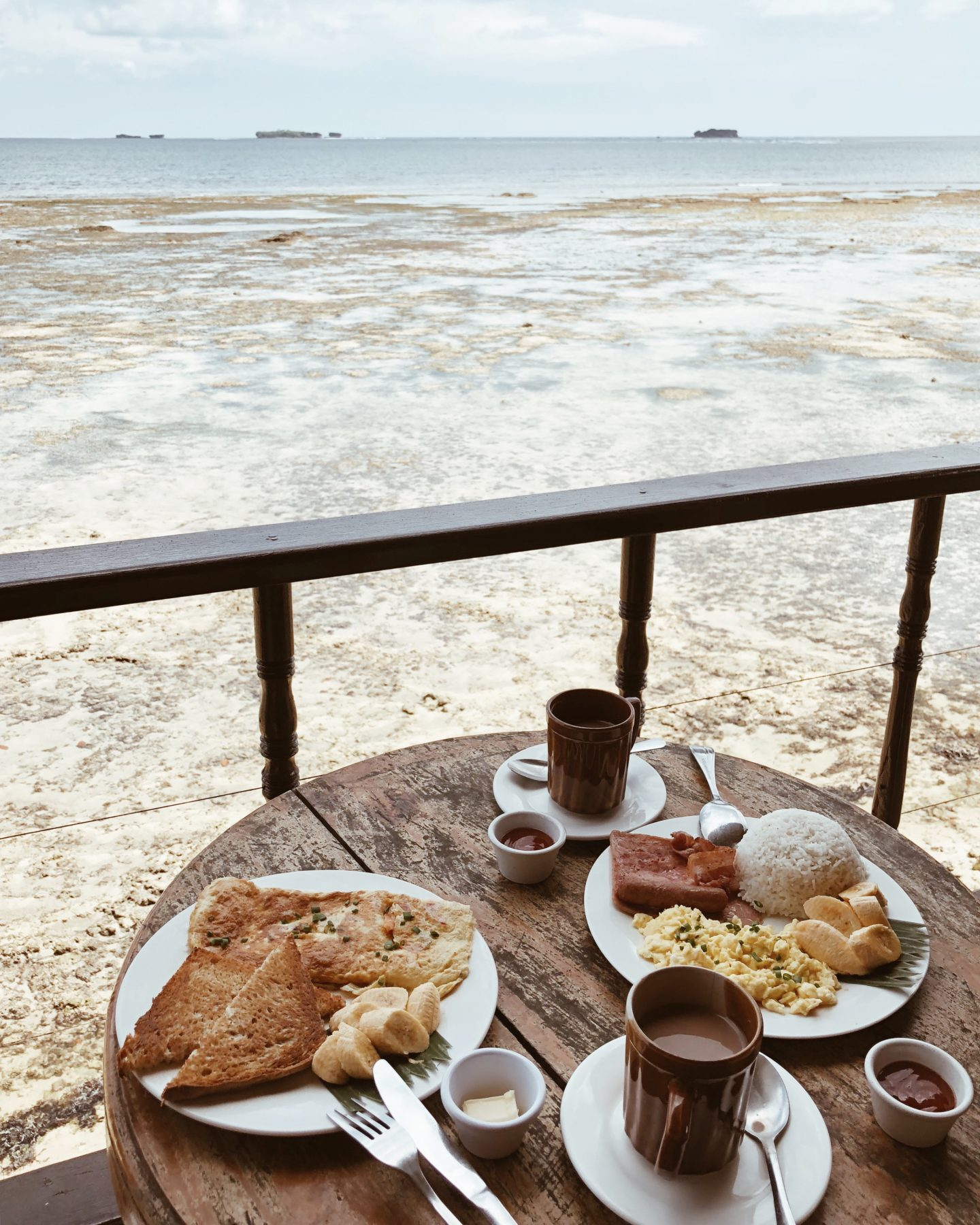breakfast with view in siargao