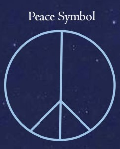Old Peace Symbol for Business Card