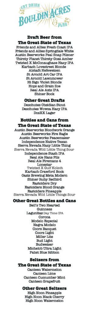 bouldin acres beer menu 6.20.2020