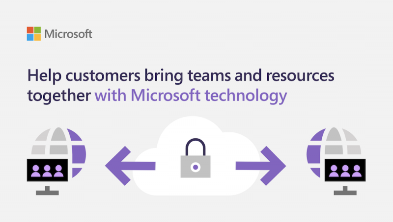 Help customers bring teams and resources together with Microsoft technology