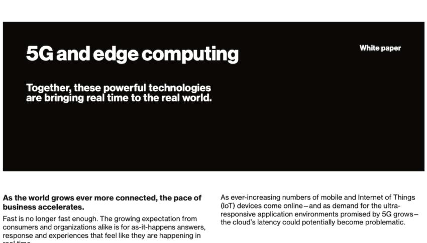 5G and edge computing