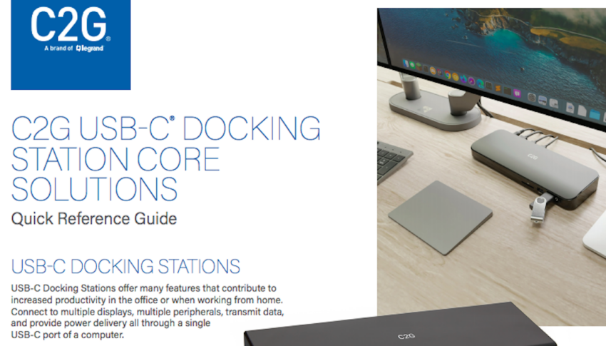 C2G USB-C® Docking Station Core Solutions