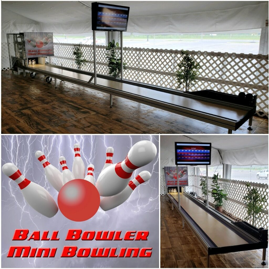 Ace Mitchell Trade Show 2019 Ball Bowler Mini Bowling Lane