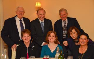 Yaca (Le) Dinner Seated - Susan Stones, Susan Blackman, Elsa Blum, Janet Schiff. Standing - Norman Stones, Jerry Blackman, Harold Blum