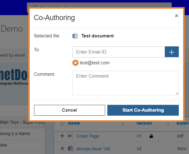 netDocShare helps to Co-Author NetDocuments content in SharePoint