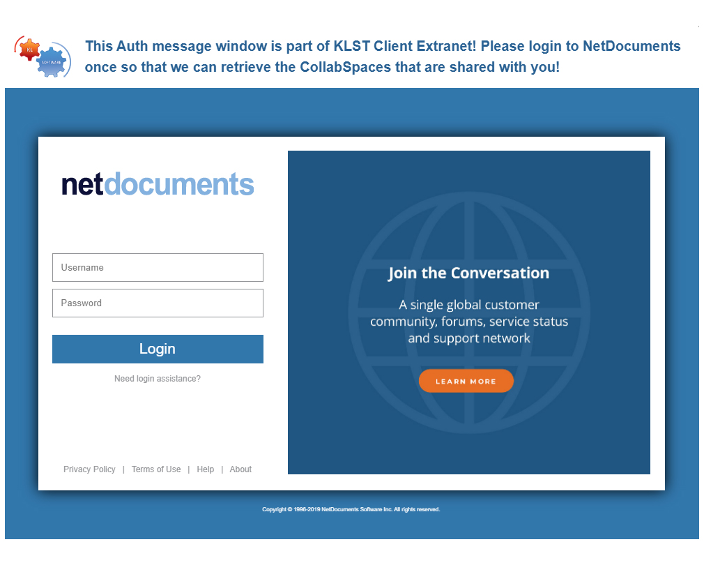 Brand any Auth popup windows from netDocShare