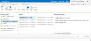 Adding-the-WebParts