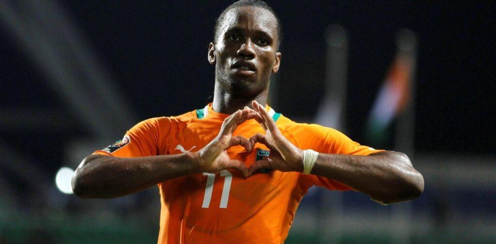 Drogba con la selección de Costa de Marfil