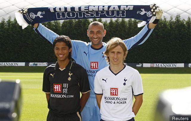 Giovani y Luka Modric en su presentación con el Tottenham