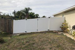 Double gate vinyl fence