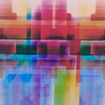 Triptych - Graphic - Digital Composite of Gouache Paintings - 1995