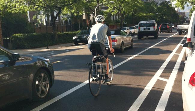 Buffer Protected Bike Lane on Clark Street
