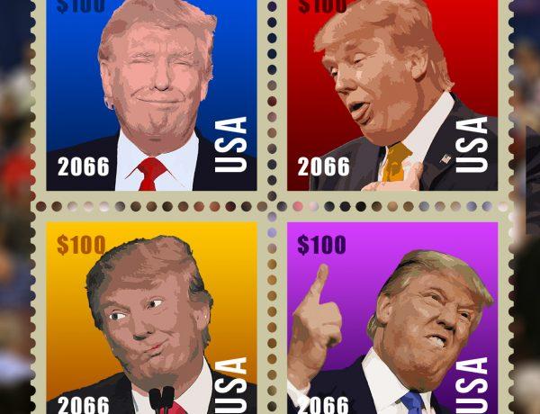 "MediaSophia Creates 50th Anniversary Commemorative Stamps for ""President"" Donald Trump"