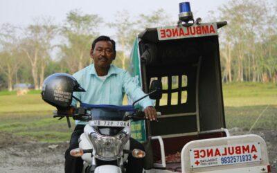 Man Develops Motorcycle Ambulance to Save Lives