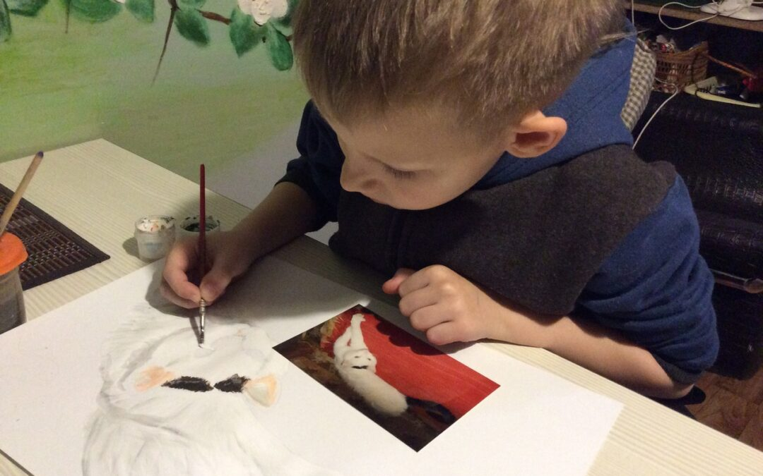 Young Painter Raises Money for Animal Shelters