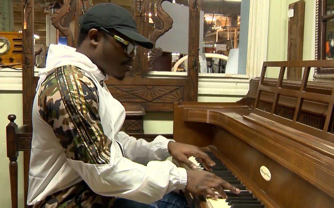 Man Donates Antique Piano to Student