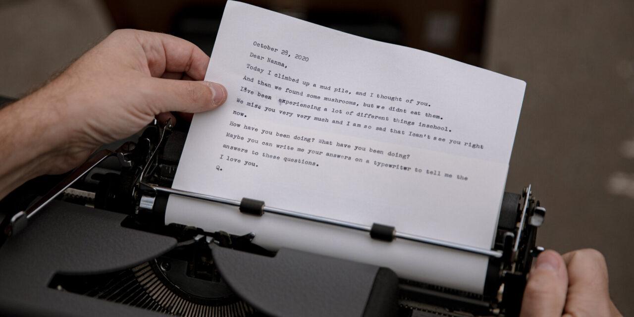 Free Typewritten Letters for Friends Feeling Blue When We Need it Most