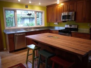 Kitchen remodel with new countertops