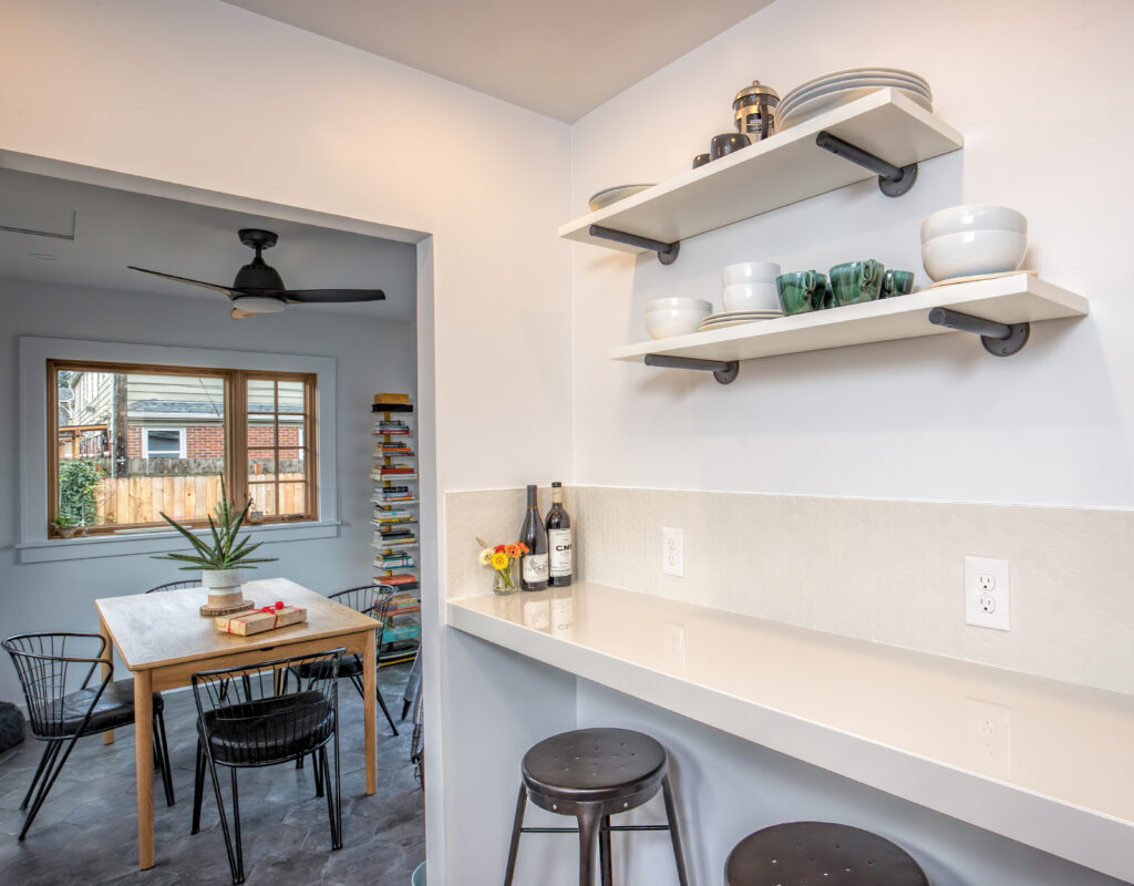 NE Portland Kitchen Remodel counter top bar addition