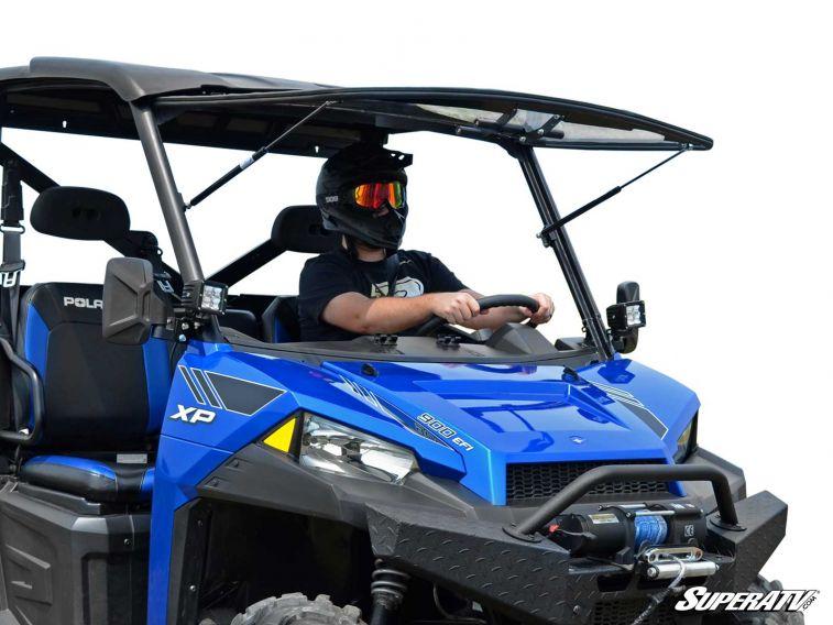 Polaris Ranger Windshield >> Polaris Ranger Xp 1000 Scratch Resistant Flip Windshield