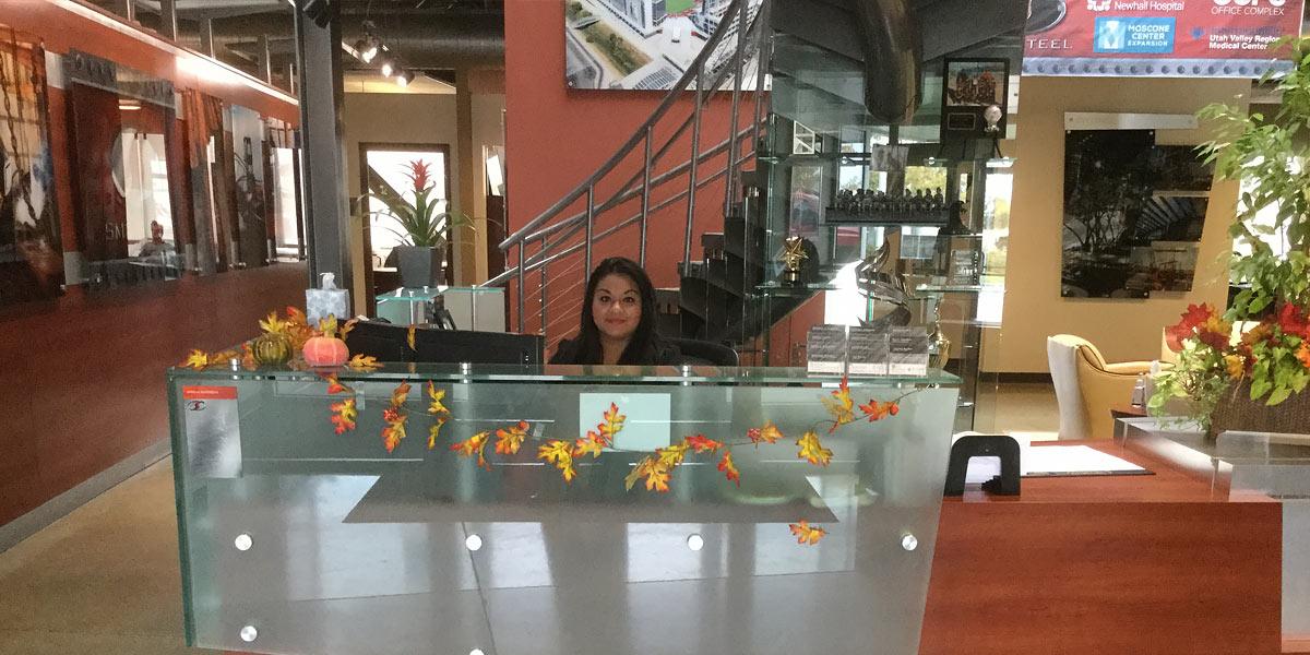 SME Steel Reception desk