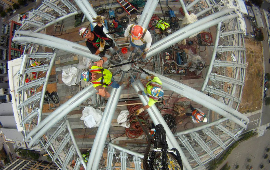 Ironworkers on Library Dome