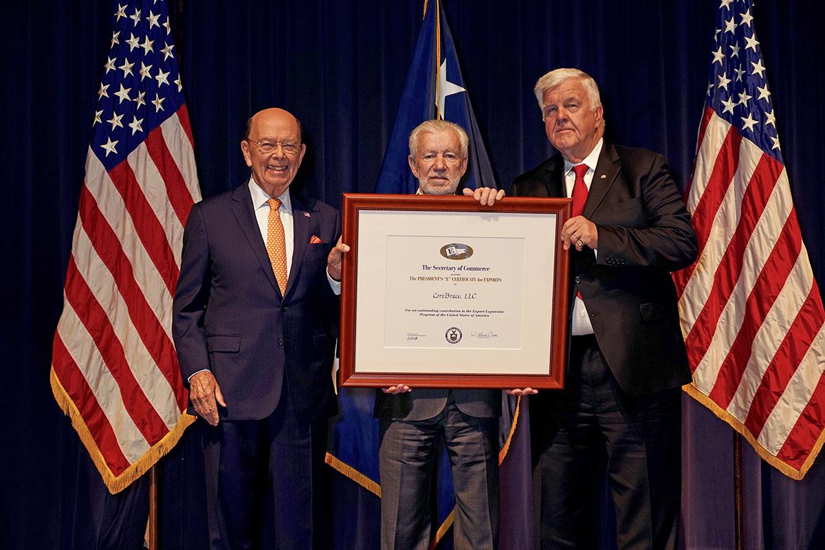 CoreBrace, LLC Receives Presidential Award for Exports