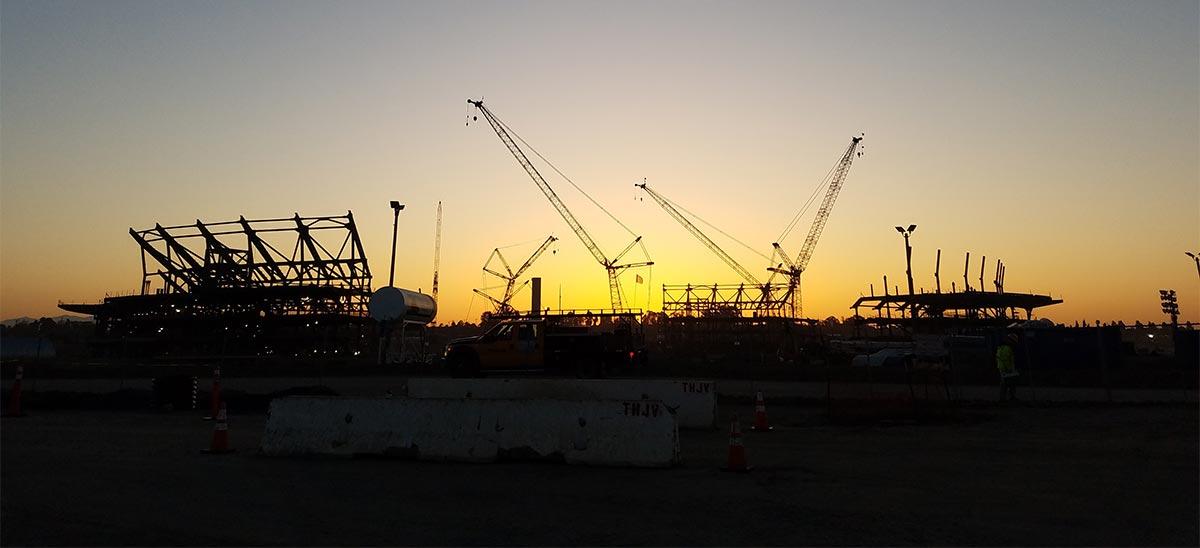 stadium silhouette
