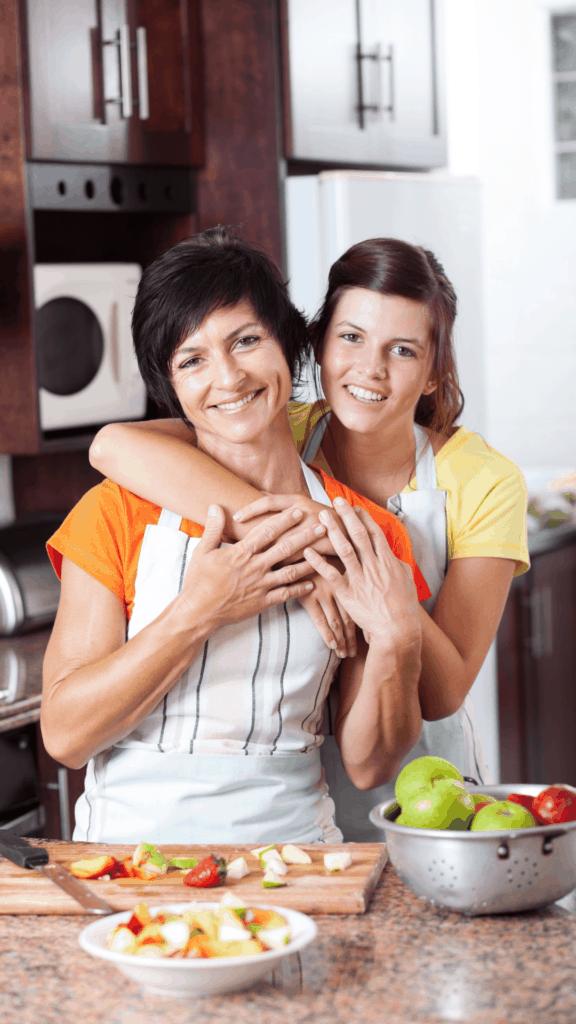 gathering in kitchen