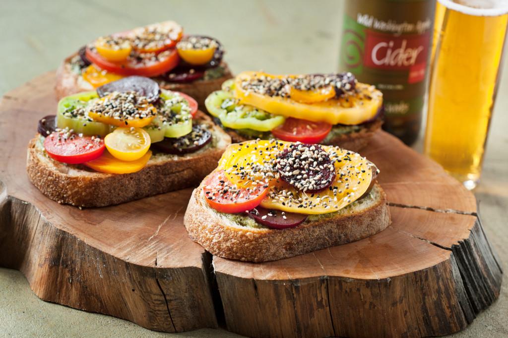 Cider food pairings tomato