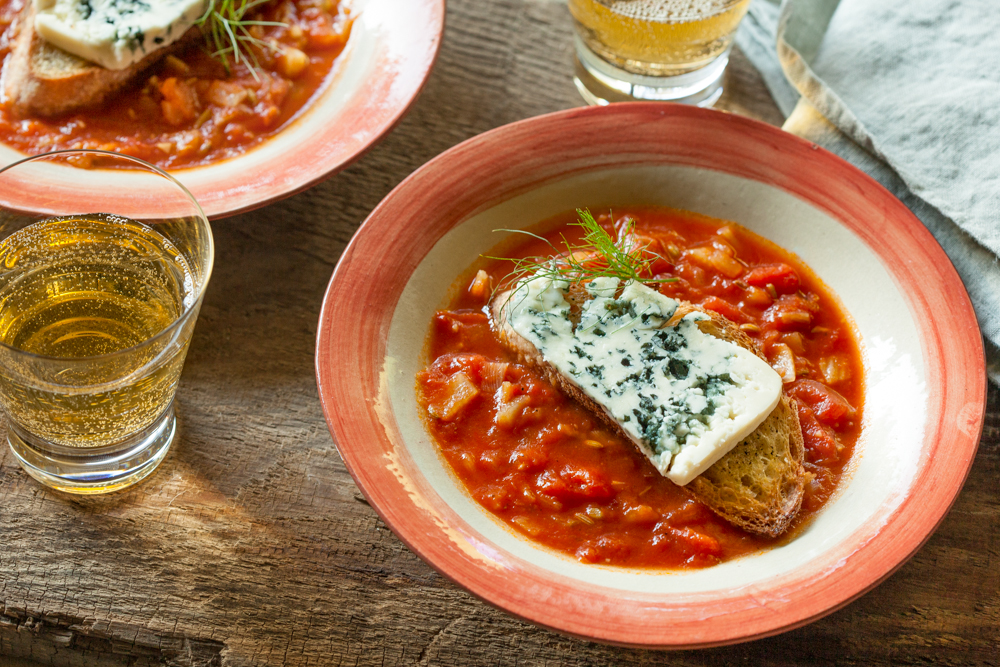 Cider food pairings tomato soup