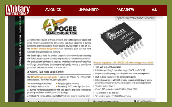 Military Embedded Systems – September 2020 with Resource Guide
