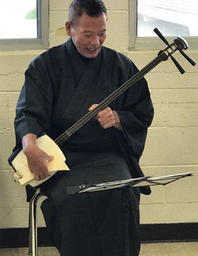 Shamisen Workshop Shamisen Workshop led by Master Honjoh Hidetaro - Sept 2018 - nihonbuyokai.org