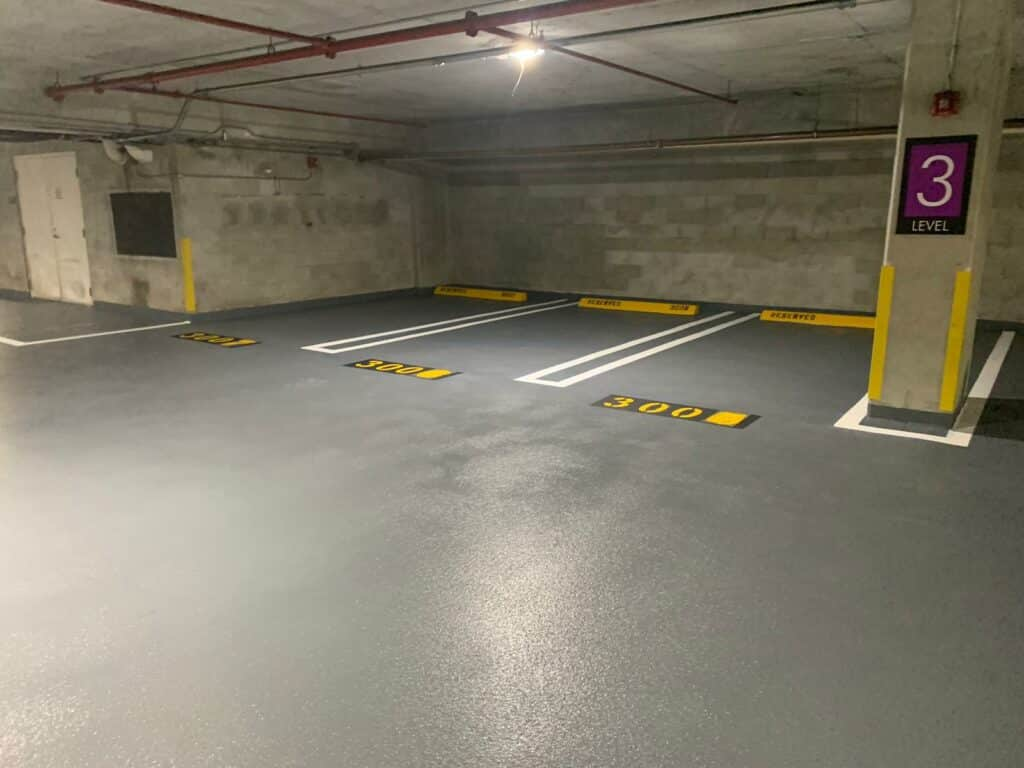 Vehicular and pedestrian traffic coating system