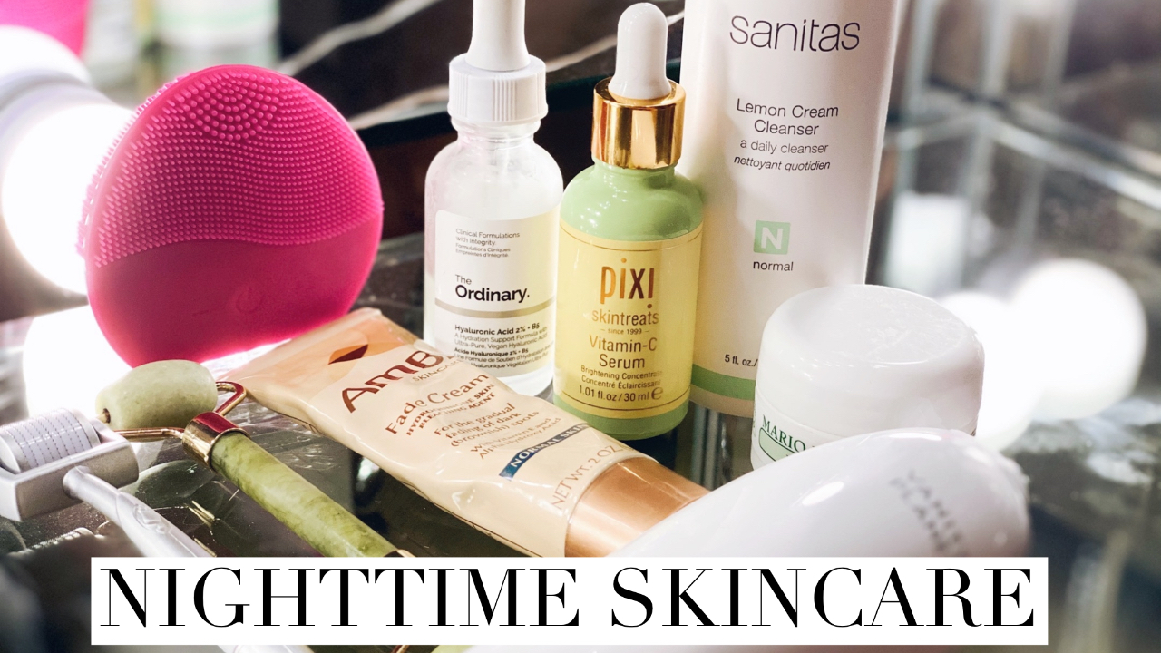 My nighttime skincare routine| Microdermabrasion & microneedling