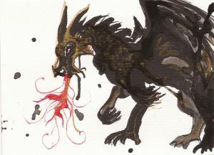Golden black dragon