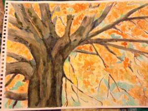 Fall Tree Watercolor