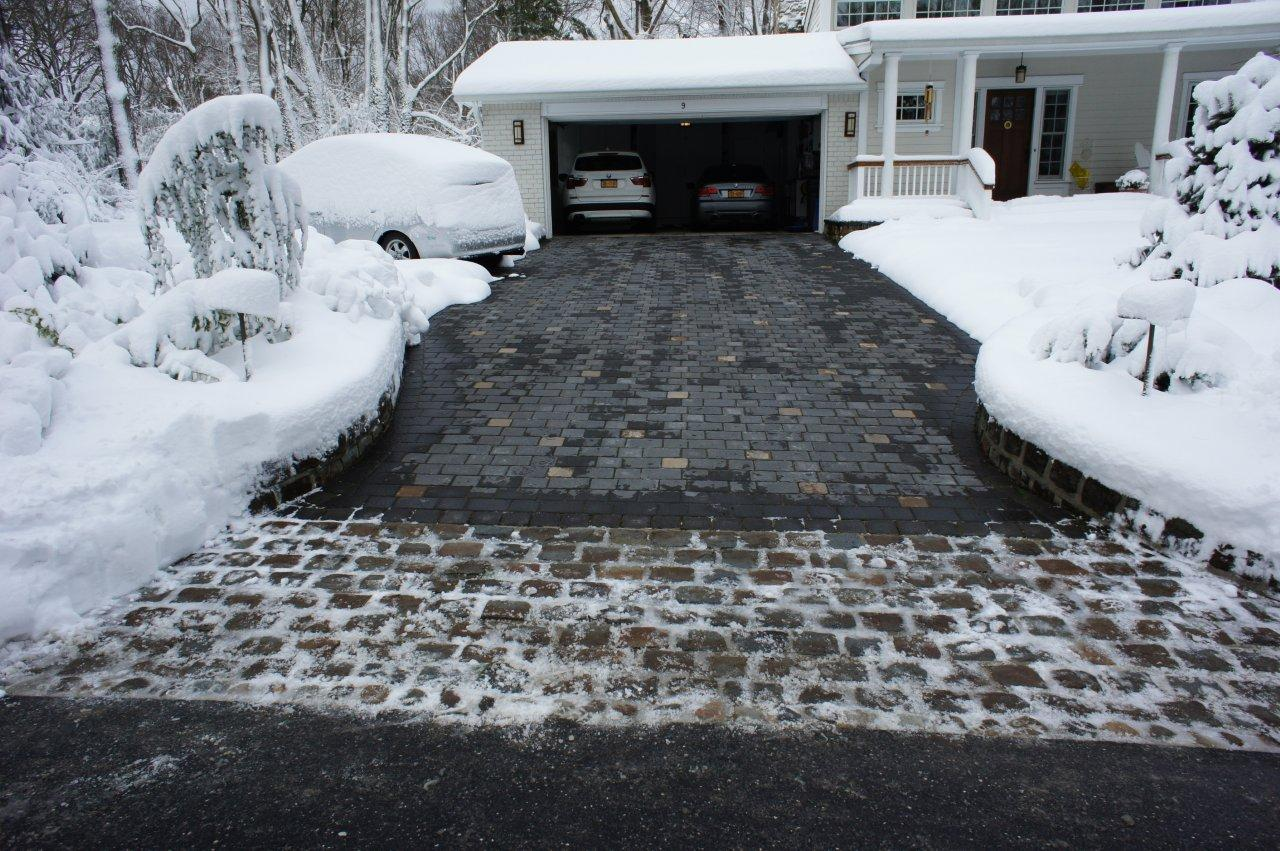 Caution When De-Icing Driveway During Storm Jonas