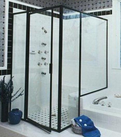 Framed Right Angle Shower Door