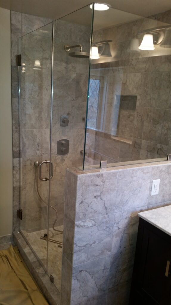 Frameless Heavy Glass Shower Enclosure