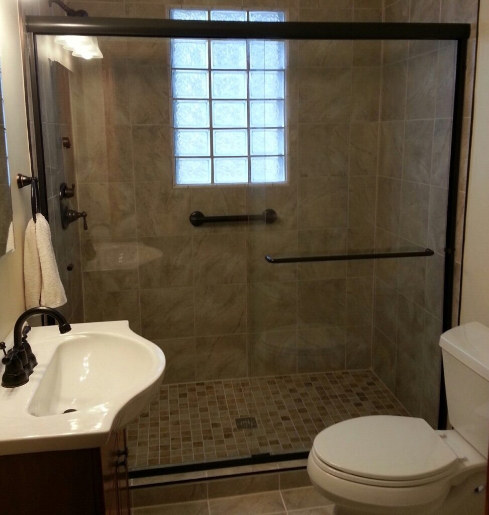 Semi-Frameless Shower Door Enclosure