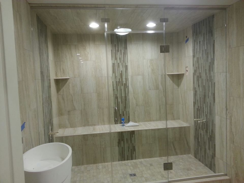 Frameless Glass Steam Shower Enclosure