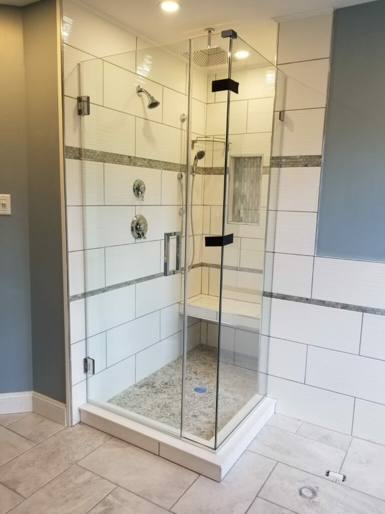Frameless Right Angle Custom Shower Enclosure