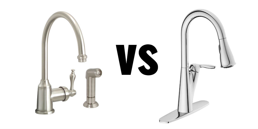 sink spouts colored; Brushed Nickel vs Chrome hardware