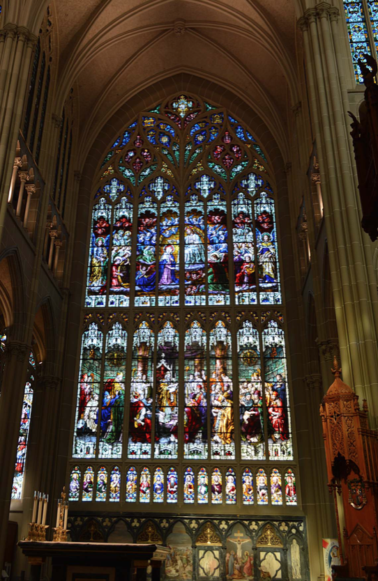 A Cathedral in Covington Kentucky showing special, old glass
