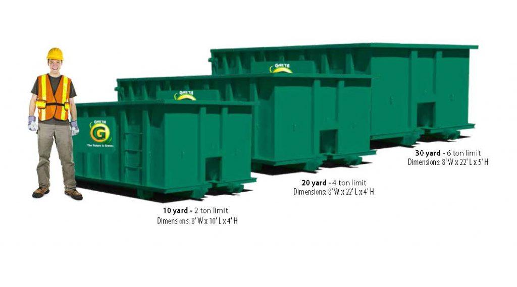 Dumpster rental size comparison