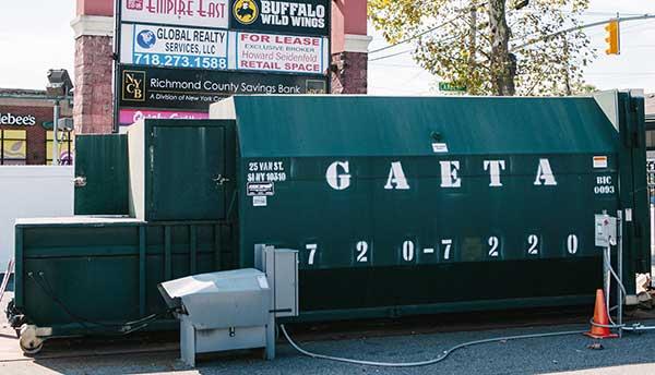 private sanitation dumpster