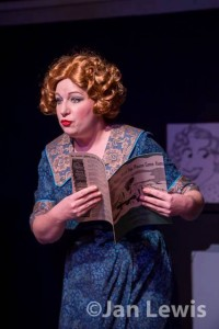 "Sarah Evangeline LaCroix, as Fanny Brice in ""One Night with Fanny Brice"" produced by the Jewish Theatre Grand Rapids"