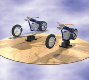 Motorcycle turntables