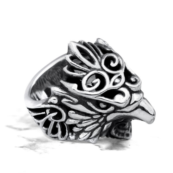 Ether11 Sterling Silver Messenger Hawk Ring